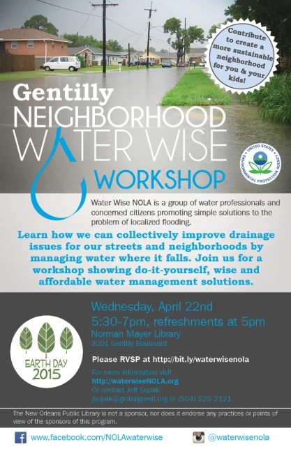Gentilly Water Wise Workshop